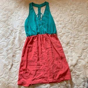 Dresses & Skirts - Teal and coral razor back dress